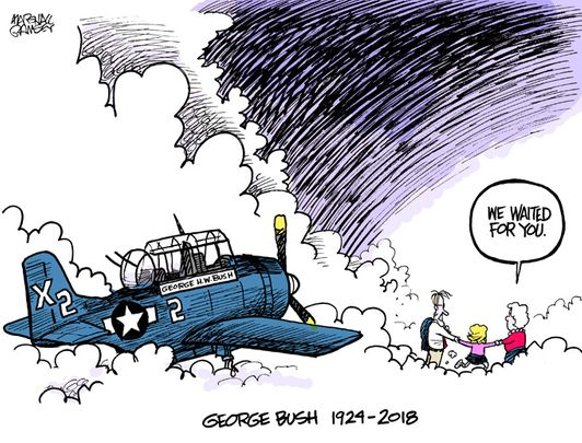 George Bush Arrives in Heaven